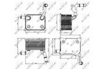 Chłodnica oleju silnikowego NRF 31266 NRF 31266