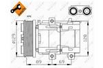Kompresor klimatyzacji NRF 32212G NRF 32212G