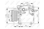 Kompresor klimatyzacji NRF  32455
