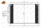 Chłodnica klimatyzacji - skraplacz NRF 35533