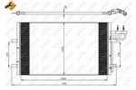 Chłodnica klimatyzacji - skraplacz<br>NRF<br>35551