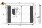 Chłodnica klimatyzacji - skraplacz<br>NRF<br>35635