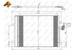 Chłodnica klimatyzacji - skraplacz<br>NRF<br>35850