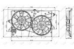 Wentylator chłodnicy silnika NRF 47003