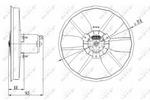 Wentylator chłodnicy silnika NRF 47402 NRF 47402