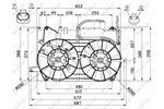 Wentylator chłodnicy silnika NRF 47673