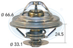 Termostat układu chłodzenia ERA 350121 ERA 350121