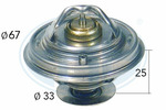 Termostat układu chłodzenia ERA 350140 ERA 350140