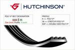 Pasek klinowy wielorowkowy HUTCHINSON 1200K5