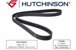 Pasek klinowy wielorowkowy HUTCHINSON  1120 K 5