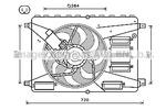 Wentylator chłodnicy silnika AVA QUALITY COOLING FD7556