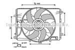 Wentylator chłodnicy silnika AVA QUALITY COOLING MS7522 AVA QUALITY COOLING MS7522