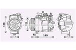 Kompresor klimatyzacji AVA QUALITY COOLING MSK705 AVA QUALITY COOLING MSK705