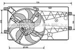 Wentylator chłodnicy silnika AVA QUALITY COOLING PE7548 AVA QUALITY COOLING PE7548