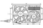 Wentylator chłodnicy silnika AVA QUALITY COOLING VW7529
