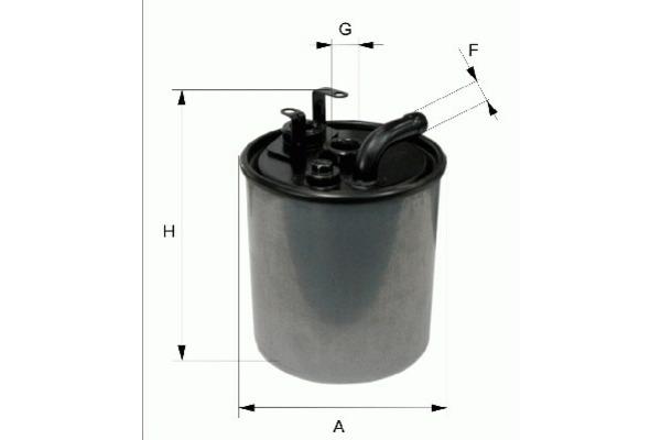 Filtr paliwa FILTRON (PP841/3)