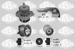Zestaw paska rozrządu + pompa wody SASIC 3906003