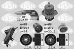 Zestaw paska rozrządu + pompa wody SASIC 3906024