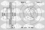 Tarcza hamulcowa SASIC  6100035 (Oś przednia)