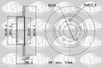 Tarcza hamulcowa SASIC  6106010 (Oś przednia)