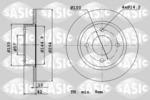 Tarcza hamulcowa SASIC  6106018 (Oś tylna)
