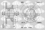 Tarcza hamulcowa SASIC  6106072 (Oś przednia)