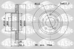 Tarcza hamulcowa SASIC  6106185 (Oś przednia)