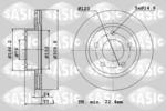 Tarcza hamulcowa SASIC  6106192 (Oś przednia)