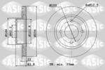 Tarcza hamulcowa SASIC  6106235 (Oś przednia)