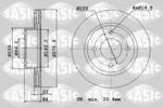 Tarcza hamulcowa SASIC  9004806J (Oś przednia)