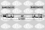 Przewód hamulcowy elastyczny SASIC  SBH0179 (Oś przednia) (Z lewej) (Z prawej) (Góra)