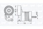 Napinacz paska klinowego wielorowkowego IPD  15-3455-Foto 2