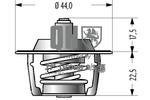 Termostat układu chłodzenia JP GROUP 4114602119