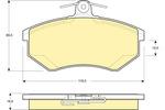 Klocki hamulcowe - komplet GIRLING 6110481