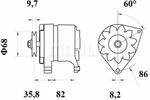 Alternator MAHLE  MG 236