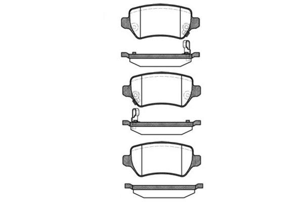 Klocki hamulcowe - komplet sbs (1501223625)