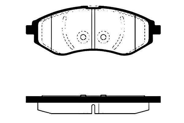 Klocki hamulcowe - komplet sbs (1501225007)