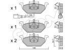 Klocki hamulcowe - komplet CIFAM 822-211-2 CIFAM 822-211-2