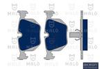 Klocki hamulcowe - komplet AKRON-MALÒ  1050029
