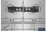 Przewód hamulcowy elastyczny AKRON-MALÒ 80592 AKRON-MALÒ 80592
