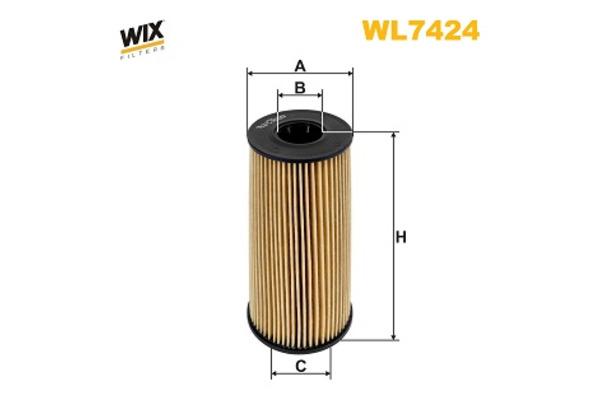 filtr oleju wix filters wl7424 sklep. Black Bedroom Furniture Sets. Home Design Ideas