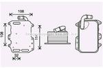 Chłodnica oleju silnikowego PRASCO  AI3405