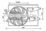 Wentylator chłodnicy silnika PRASCO FD7555 PRASCO FD7555