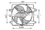 Wentylator chłodnicy silnika PRASCO FD7575