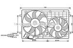 Wentylator chłodnicy silnika PRASCO VW7528