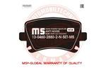 Klocki hamulcowe - komplet MASTER-SPORT 13-0460-2880-2N-SET-MS
