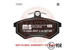 Klocki hamulcowe - komplet MASTER-SPORT 13-0460-2957-2N-SET-MS