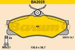 Klocki hamulcowe - komplet BARUM BA2025 BARUM BA2025