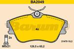 Klocki hamulcowe - komplet BARUM BA2049