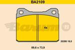 Klocki hamulcowe - komplet BARUM BA2109 BARUM BA2109